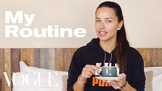 Adriana Lima's Travel Routine for a Long-Haul Flight | On the Go | Vogue