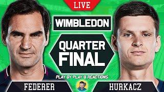 🔴 FEDERER vs HURKACZ | Wimbledon 2021 | LIVE Tennis Play-by-Play