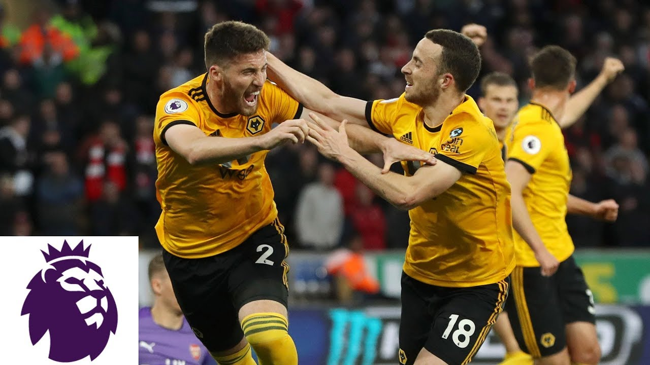 Wolves' Matt Doherty knocks in header to double lead v. Arsenal | NBC Sports