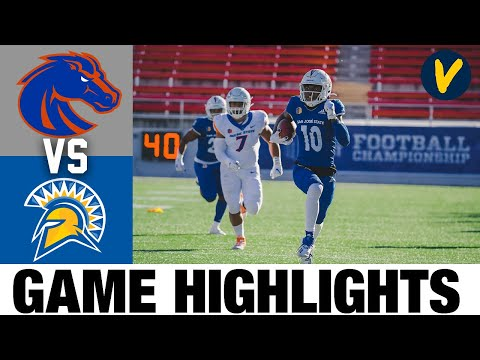 Boise State vs #24 San Jose State Highlights | 2020 MWC Championship Game Football Highlights