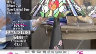 Jj Peng Tiffany Style Floral Enamel Base Table Lamp At The Shopping Channel 508234