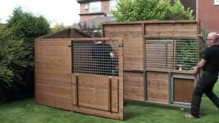 Timberbuild Dog Kennel And Run Being Assembled
