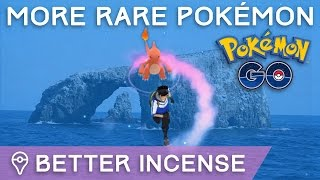 USE INCENSE IN REMOTE AREAS FOR RARER POKÉMON SPAWNS