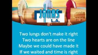 Jonas Brothers - Things Will Never Be The Same (Lyrics)