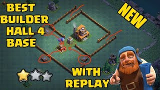 Clash Of Clans Best Builder Hall 4 Base Design (BH4) With Replay