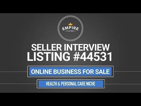 Online Business For Sale – $6.7K/month in the Personal & Health Care Niche