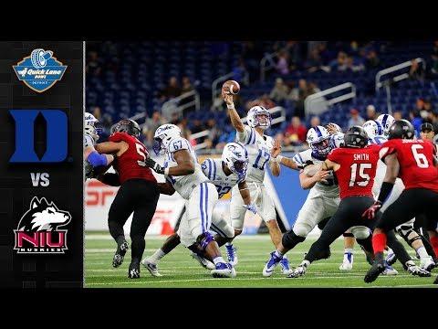 Duke vs. Northern Illinois Quick Lane Bowl Highlights (2017)