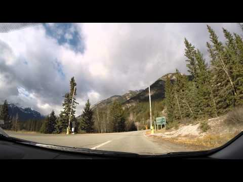 Car Trip from Lake Minnewanka to Johnston's Canyon in Banff, Alberta