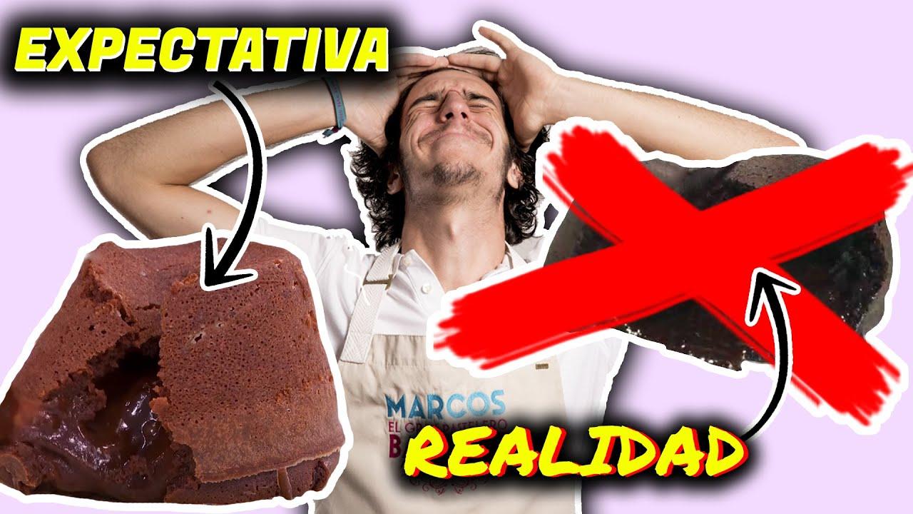 HICE EL VOLCAN DE CHOCOLATE QUE HICIERON EN BAKE OFF ¿Me saldra? l Marcos Bake Off Argentina