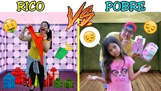 RICO VS POBRE FAZENDO AMOEBA / SLIME #10 - SLIME DE NATAL -  Anny e Eu