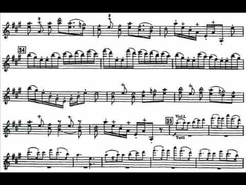 Glazunov, Alexander Violin Concerto Mvt1(end),2,3 Moderato, Candenza, Allegro