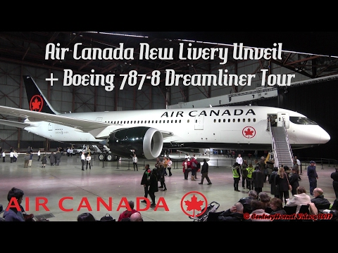 Air Canada New Livery Boeing 787-8 Dreamliner Unveil | Toronto Pearson Int'l February 9, 2017