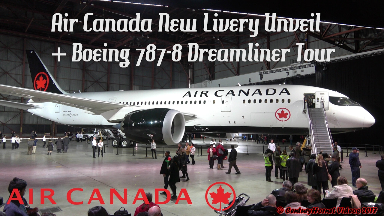Air Canada New Livery Boeing 787-8 Dreamliner Unveil  Toronto Pearson Int'l February 9, 2017