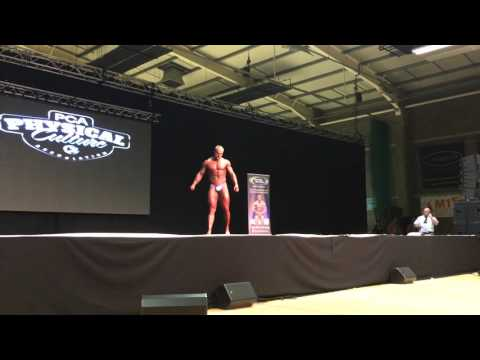 PCA Irish Open - Eddie Drummond Posing Routine - Mr Class 1 Runner-up