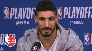 Enes Kanter on playing former teammates, Blazers' Game 1 win | NBA on ESPN