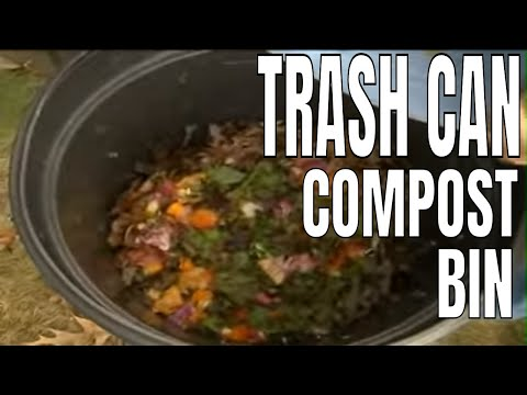Can you make a compost bin out of a trash