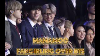 Mamamoo fangirling over BTS -- BTS x MAMAMOO