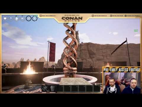 Conan Exiles Stream #2: Thralls, crafting and combat