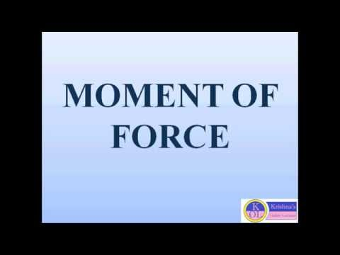 MOMENT OF FORCE