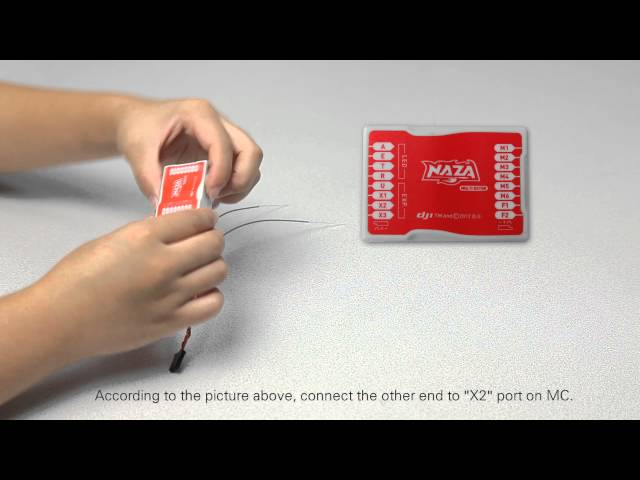 DJI Naza-M Main Controller&PPM Receiver Connection