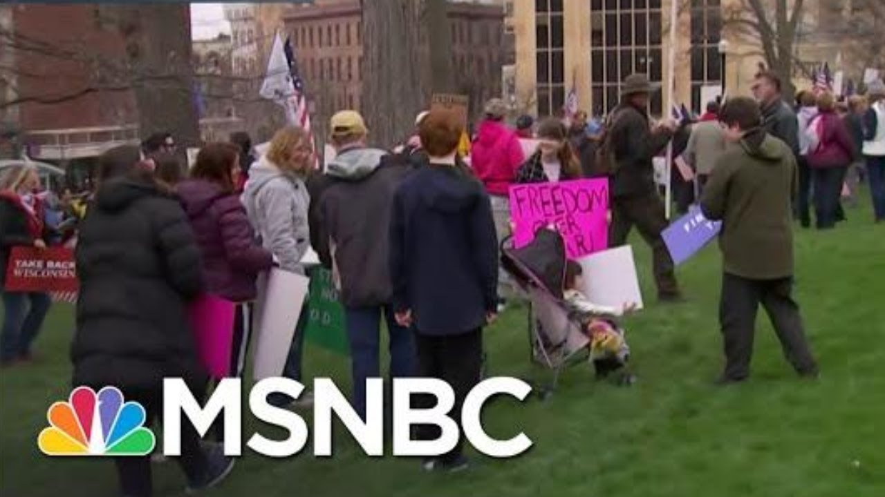 Thousands Flock To Madison To Protest For Reopening Wisconsin | Katy Tur | MSNBC