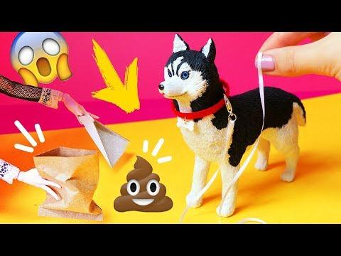 ПОВОДОК, ОШЕЙНИК и СЮРПРИЗ 🌟 ГУЛЯЕМ С СОБАКОЙ 🌟Питомцы для кукол! Игрушки для детей Анна Оськина