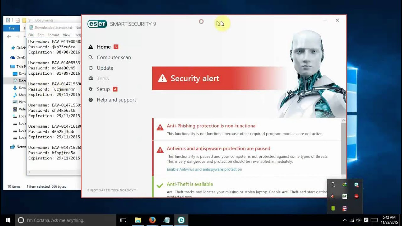 Aktivasi Serial Number Eset Smart Security 9 Youtube