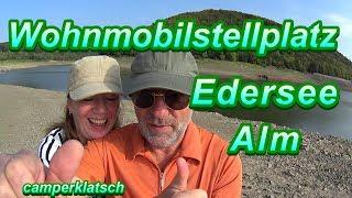 Edersee Alm Wohnmobilstellplatz 💥 Camping Tour 💥 mit dem Wohnmobil unterwegs