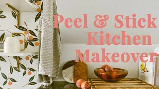 RENTAL KITCHEN MAKEOVER UNDER $500 (With Peel and Stick Wallpaper!)