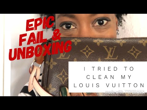I tried to Clean my Louis Vuitton and Failed  plus Unboxing!! // Ahhhsoneo