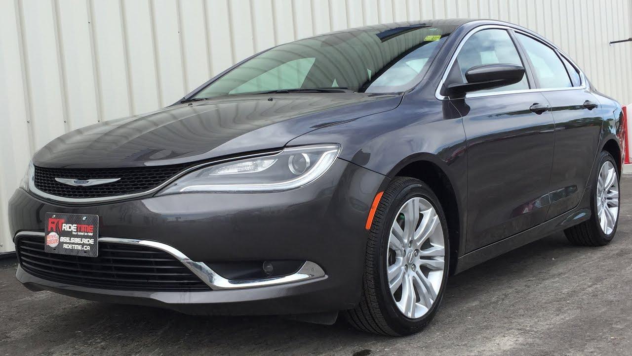 Chrysler 200 Limited >> 2015 Chrysler 200 Limited Sunroof 3 6l V6 Comfort Group W Back