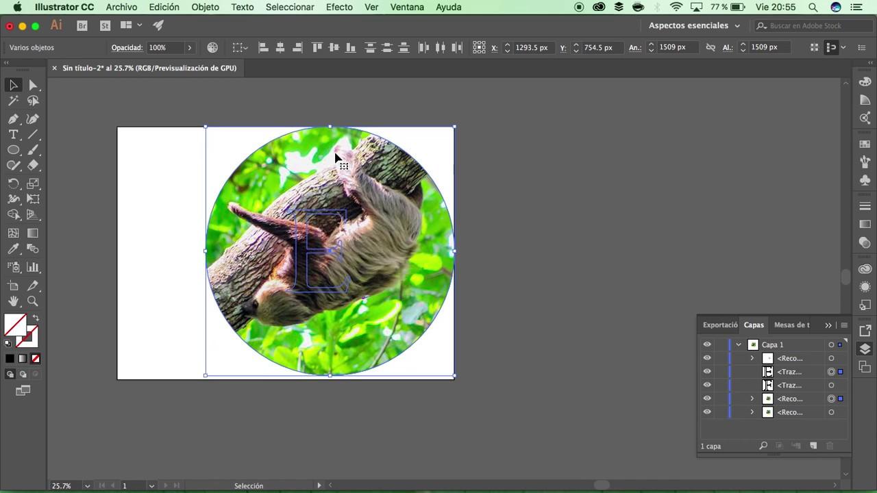 91 Como Recortar Una Imagen En Illustrator Mascara De Recorte En Illustrator Youtube Mascara De Recorte Recortar Recortes