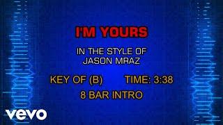 Jason Mraz - I'm Yours (Karaoke)