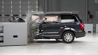 2014 Chrysler Town & Country small overlap IIHS crash test