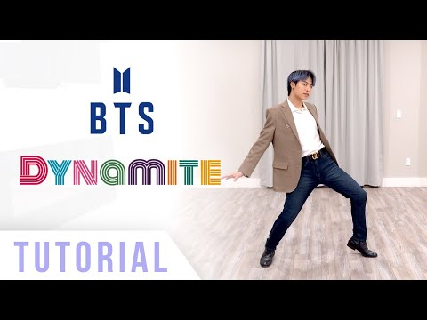 BTS - 'Dynamite' Dance Tutorial (Explanation & Mirrored) | Ellen and Brian