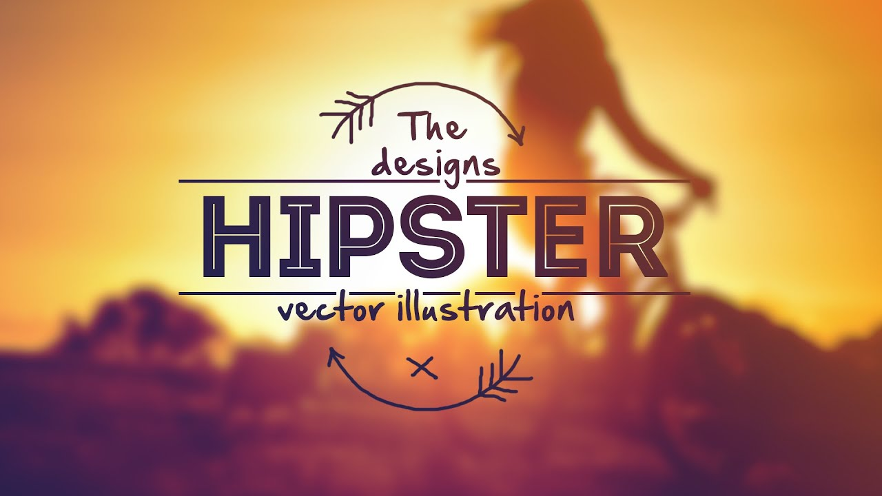 Design a creative hipster logo in photoshop youtube voltagebd Image collections