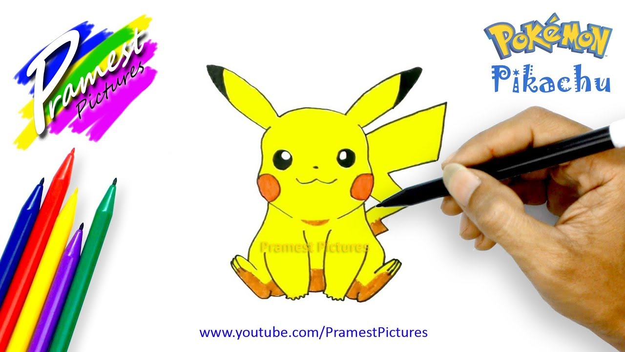 How To Draw Pikachu Pokemon Coloring Pages For Kids