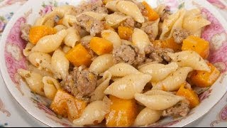 Pasta With Sausage And Winter (butternut) Squash - Med Diet Episode 90