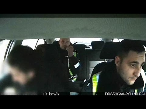 Lithuania: Dashcam footage shows police racing choking baby to hospital - no comment