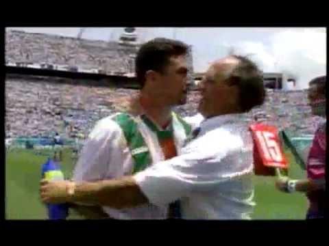 John Aldridge loses it V Mexico World Cup 94