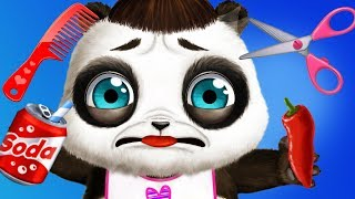 Fun Baby Pet Animal Care - Panda Lu Bear Care Babysitting, Daycare Clean Up Dress Up Kids Games
