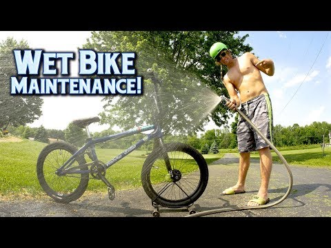 Wet BMX Bike Maintenance - After Rain Clean Up