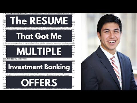 Revealing the RESUMES that got me multiple INVESTMENT BANKING OFFERS (BULGE BRACKET)