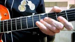 How to play a Brian Setzer style chord melody and solo..