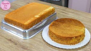 Aprenda a Fazer Bolo Pão de Ló Caseiro Para Bolos de Aniversário