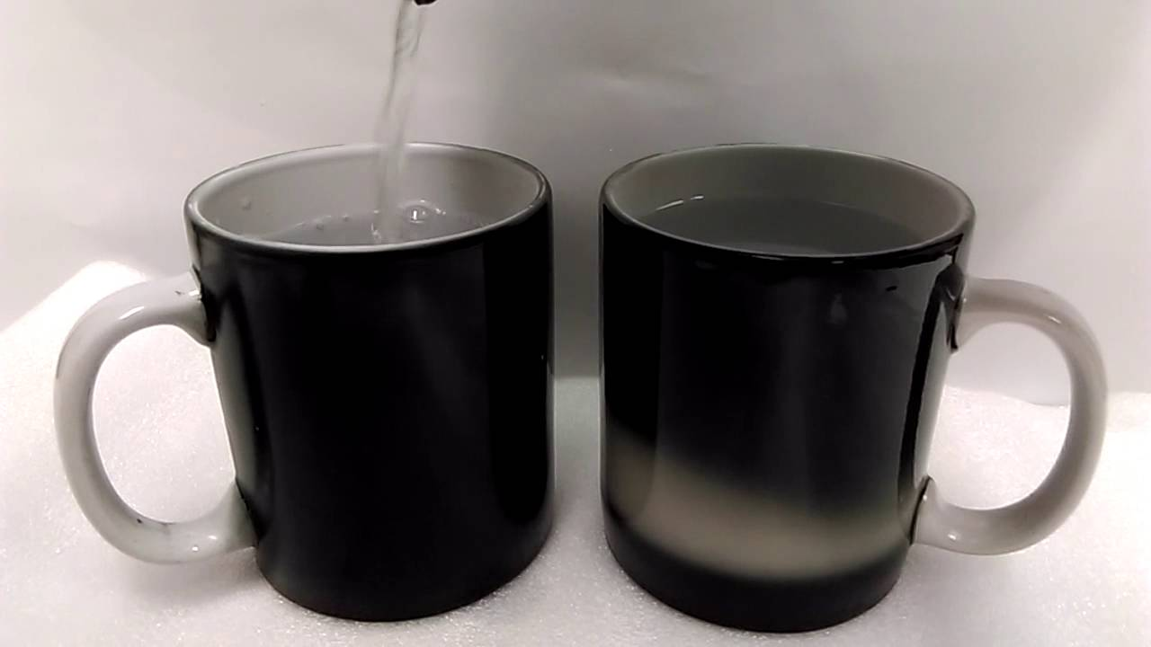 thermochromic color change mugs by water based spray coating 2 youtube