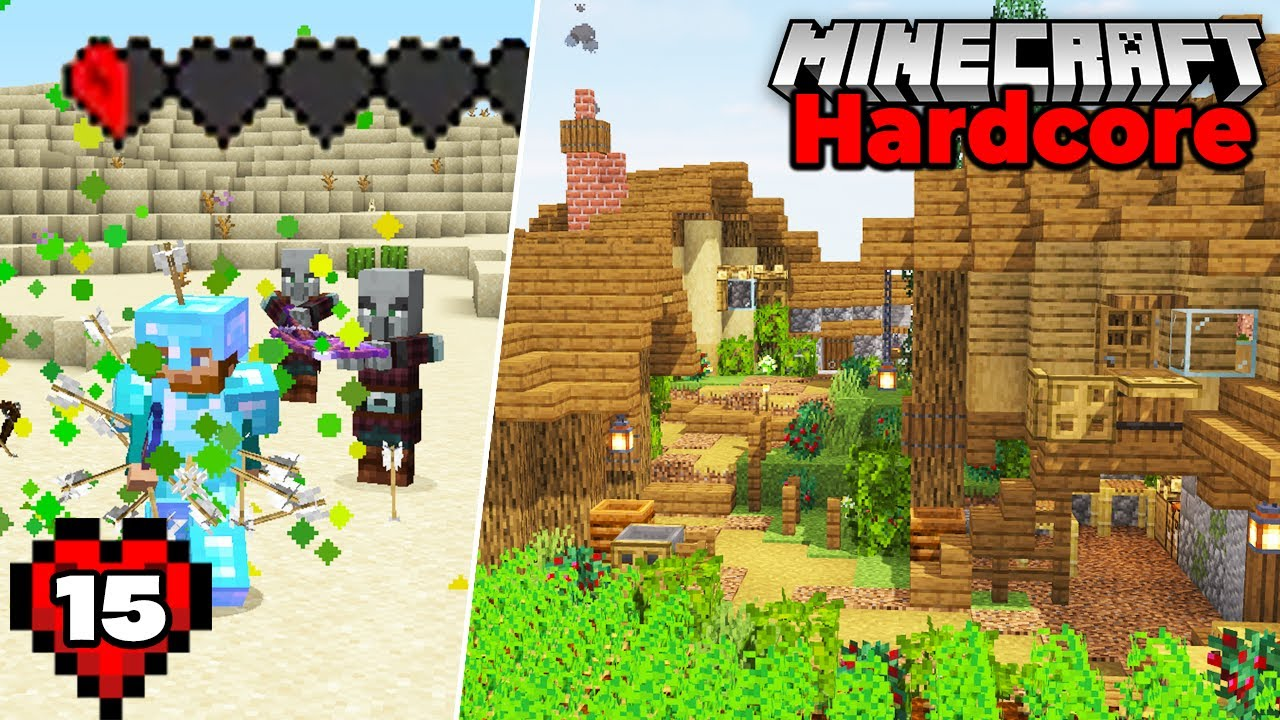 Minecraft Hardcore Let's Play : I should NOT have survived this