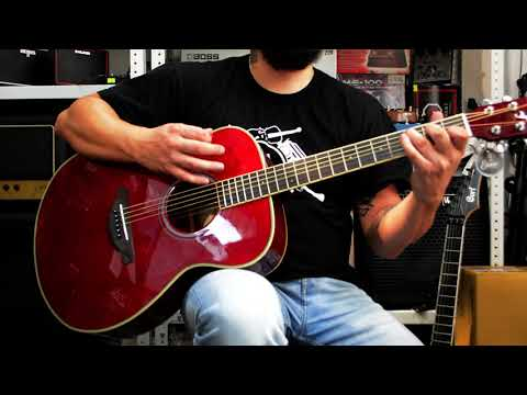 Сравнение  двух трансакустических гитар  Enya EA-X2E и Yamaha FS-TA