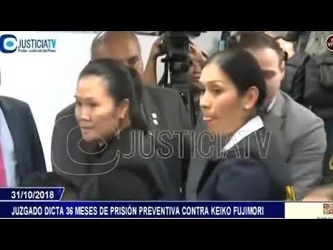 Keiko Fujimori fue sentenciada a 36 meses de prisión preventiva