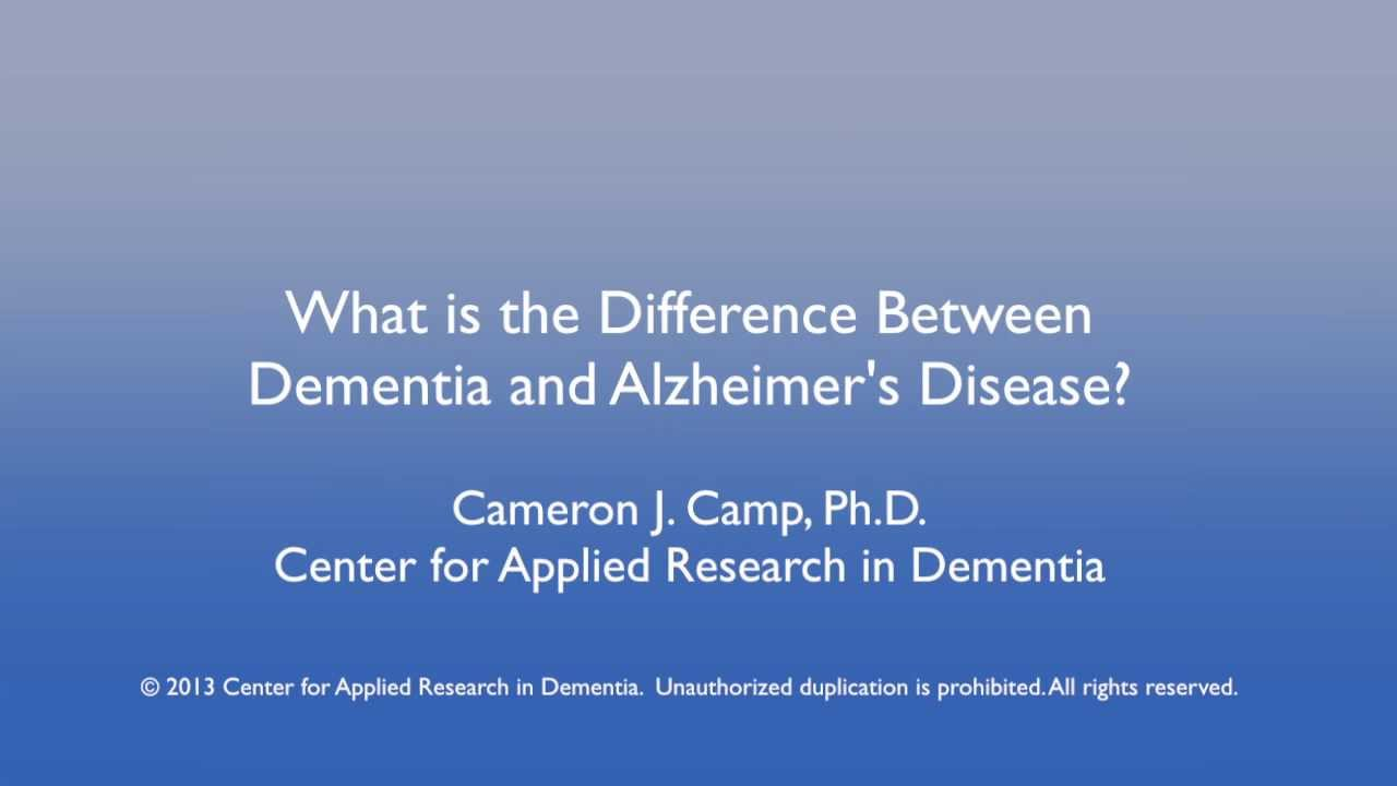 What is the Difference Between Alzheimer's Disease and Dementia? - YouTube